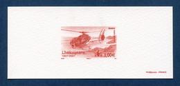 ⭐ France - Epreuve De Luxe - Poste Aérienne - YT PA N° 70 - L'Hélicoptère - 2007 ⭐ - Luxusentwürfe