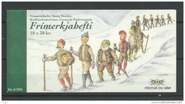 1995 MNH Iceland, Island, Booklet Christmas Postfris - Cuadernillos/libretas