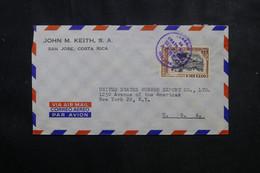 COSTA RICA - Enveloppe Commerciale De San José Pour New York Par Avion - L 73484 - Costa Rica
