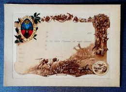 SAINT-HUBERT CLUB FRANCAIS - Carte D'Invitation à Venir Chasser  20 Cm. X 14.5 Cm. - Jagd