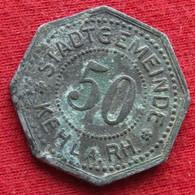 Germany Kehl 50 Pfennig  No Date  Baden  Allemagne Alemanha Zinc Notgeld 356 - Unclassified