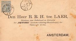 8 APR 95 Envelop Van BAARN Met Particuliere Bijdruk  Naar Amsterdam - Interi Postali