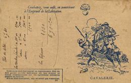 CORRESPONDANCE  DES ARMEES DE LA REPUBLIQUE  CAVALERIE  Combattez Vous Aussi En Souscrivant à L'emprint De La Liberation - Otros
