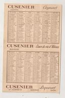 1956 CALENDRIER PUB CUSENIER COGNACS  LIQUEURS / EPICERIE LALOUETTE  M LEMAITRE NANTES   C1343 - Calendari