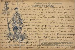 CORRESPONDANCE  DES ARMEES DE LA REPUBLIQUE  FUSILIER MARIN   Du 68 RI  Annonay Vers Angoulème - Otros