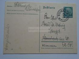 ZA332.6    Austria  -Steinbach Am Attersee  1938  Postal Stationery Ganzsache  Seewalchen - Covers & Documents