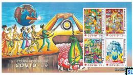 Sri Lanka Stamps 2020, Covid - 19, Corona, Medical, MS - Sri Lanka (Ceilán) (1948-...)