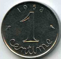 France -  1 Centime  -  1968 - Francia