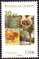 France - Timbre De Service N° 171 ** Conseil De L'Europe - 30 Ans D'Itinéraires Culturels. Lascaux, Olives, Etc... - Nuevos