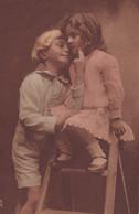 """A Love Match"", Little Boy And Girl Hugging, TUCK No. 4237, 1900-1910's - Tuck, Raphael"