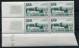 RC 18594 MAROC PA N° 85 REMPARTS DE CHELLA RABAT COIN DATÉ NEUF ** - Marokko (1891-1956)