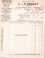Facture - Fabrique De SACS En PAPIER - Ets L.&P.SEBERT - St BRIEUC - Rue Charles Le Maout - 1954 - France
