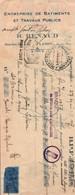 Lettre De Change - Bâtiments & Travaux Publics  - Ets R.RENAUD - PLERIN - Roche-Plate - 1937 - France