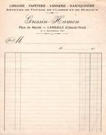 Facture - LIBRAIRIE PAPETERIE ... - Ets GRESSIN-HAMON - LAMBALLE - France