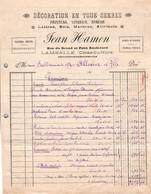 Facture - DECORATION En Ts Genres PEINTURE ... - Ets Jean HAMON - LAMBALLE - 1942/45 ( 2 Docs) - France