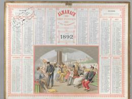 Calendrier Des Postes - De 1892 - Complet - Calendari