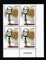 ANDORRA ANDORRE Jacques Chirac  Bloc De 4 Coin Daté 03.08.20 ** Gomme Intacte  LUXE - Ungebraucht