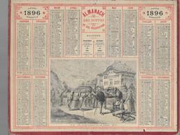 Calendrier Des Postes - De 1896 - Manquent Pages Au Dos - - Calendari