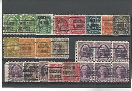 37526 ) USA Collection Precancel - Vorausentwertungen