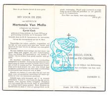 DP Hortensia Van Mello ° Schendelbeke Geraardsbergen 1874 † 1957 X Cyriel Cock / Labie De Cremer - Andachtsbilder