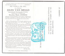 DP Jules Van Mello ° Schendelbeke Geraardsbergen 1890 † Ninove 1962 X Blondina M. Andries / Stecké De Clercq / NMBS - Andachtsbilder