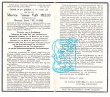 DP Maurice H. Van Mello ° Overboelare 1905 † Geraardsbergen 1957 X Laura Van Damme / Cosyns Schaillie - Andachtsbilder