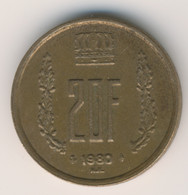 LUXEMBOURG 1980: 20 Francs, KM 58 - Lussemburgo