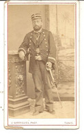 TUNIS . GRADE DE L'ARMEE FRANCAISE . 1881 . PHOTO GARRIGUES - Guerra, Militari