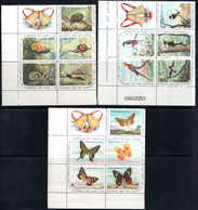 43,CUBA 690a 695a 700a,CHRISTMAS 1961-1962,BIRDS,BUTTERFLIES,SNAILS,MNH - Blocs-feuillets