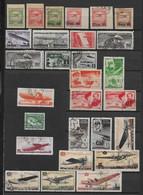 URSS - 1923/1979 - COLLECTION POSTE AERIENNE **/*/OB - QUELQUES SERIES EN DOUBLE - COTE YVERT ENV. 250 EUR. - 4 PAGES - Nuovi