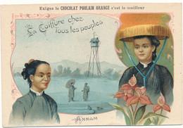 Chocolat POULAIN Orange - La Coiffure Chez Tous Les Peuples - Annam, Les Annamites - Poulain