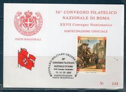 S.M.O.M - Cartolina Manifestazione ROMA 2003 - - Sovrano Militare Ordine Di Malta