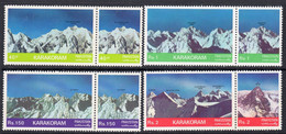 Pakistan 1981 Mountain Peaks I Set Of 8, MNH, SG 562/9 (E) - Pakistan