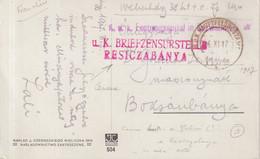 """AUTRICHE / HONGRIE : GUERRE . EN FM . D'UN HOPITAL MILITAIRE . CENSURE DE """" RESTCZABANYA """" . 1917 . - 1850-1918 Impero"""
