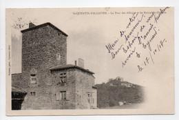 - CPA SAINT-QUENTIN-FALLAVIER (38) - La Tour Des Allinges Et Les Ruines Du Château 1907 - Photo Vialatte - - Sonstige Gemeinden