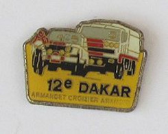 1 Pin's MOTO/AUTO/CAMION- 12e DAKAR - ARMANDET/CROIZIER/ARAMCO - Rallye