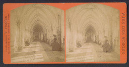 88 SAINT DIE La Cathedrale Le Cloitre Photo Stereo 10.5 X  17 Cm - Stereoscopic