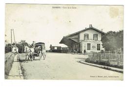 72 SARTHE MAMERS Cour De La Gare Chemin De Fer Train - Mamers