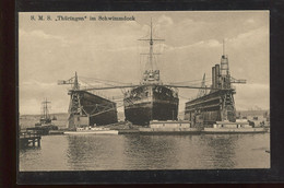 Warships S.M.S. Thuringen In Schwimmdock__(1614) - Guerra