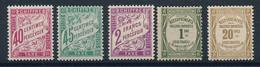 DT-173: FRANCE: Lot Avec Taxes** N°35 (légères Froissures)-36-42-43-45 - 1859-1955.. Ungebraucht