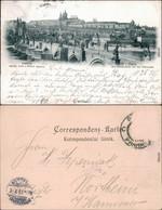 Ansichtskarte Prag Praha Karlsbrücke/Karlův Most 1897 - Czech Republic