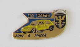 1 Pin's LA POSTE - PONT A MARCQ (RENAULT 5) - Post