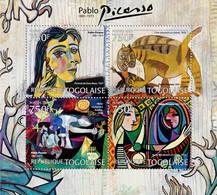 Togo 2012 MNH - Pablo Picaso (1881-1973), Paintings. YT 2884-2887, Mi 4463-4466 - Togo (1960-...)