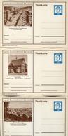 59525 Germany,3stationery Ganzsachen 1963 15pf (luther)deutschland Kennen,showing:wolfsburg,bad Friedrichshall,birkenfel - Geïllustreerde Postkaarten - Ongebruikt