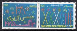 Pakistan 1985 Independence Day Pair, MNH, SG 678/9 (E) - Pakistán