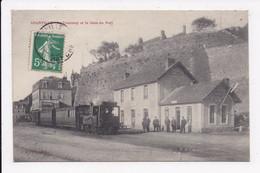 CP 50 GRANVILLE Le Tramway Et La Gare Du Port - Granville