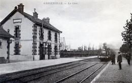 78  GARGENVILLE  ARRIVEE D'UN TRAIN EN GARE - Gargenville
