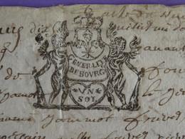 """1680 Généralité De BOURGES Papier Timbré N°42 De """"UN SOL"""" Anges - Gebührenstempel, Impoststempel"""