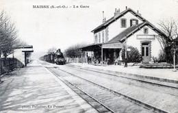 91  MAISSE LA GARE AVEC TRAIN - Sonstige Gemeinden