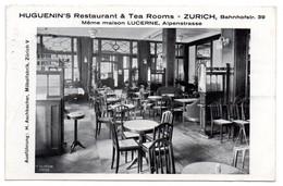 Zurich /Huguenin's Restaurant & Tea Rooms / Même Maison Lucerne Alpenstrasse - ZH Zurich